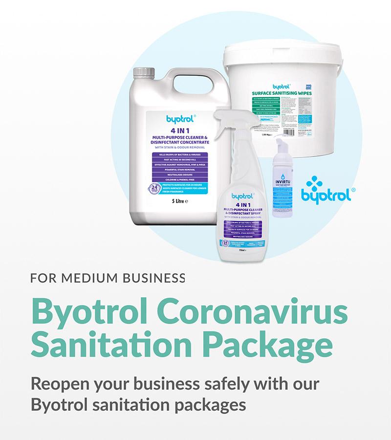 byotrol sanitation package for large business